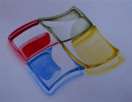 A Windows Colored Pencil Drawing by PolizziGraphics