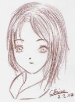 brown pencil girl by laquaza