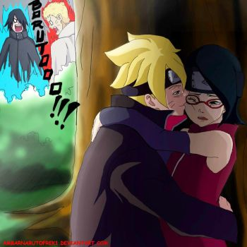 Boruto and Sarada Secret love?!  (normal version) by ambarnarutofrek1