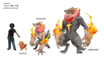 fakemon: fire-type starter by twisted-wind