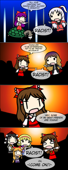 4Koma Friday: Reimu The Racist by FullHitPoints