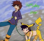 Pokemon:He is just loving this by Shigerugal