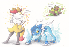 And even more evolutions! by PitchBlackEspresso