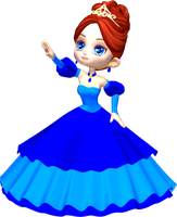 Princess in Blue Poser PNG Clipart (1) by clipartcotttage