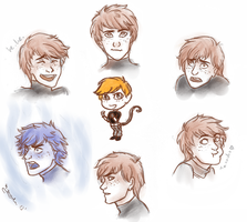 Ron's expressions by m-angela