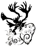 A reindeer's whisper - tattoo by naruto32