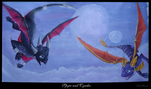 Spyro and Cynder by hecatehell