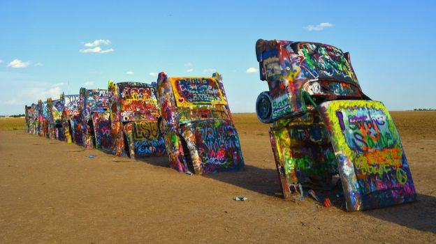 Cadillac Ranch,Amarillo,Texas by MsDeGraeve