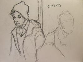 dude on the train 3 by jaiquanfayson