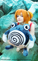 Misty and Poliwhirl by Hana-Zone