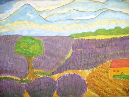 Lavenderfield in Provence by ingeline-art