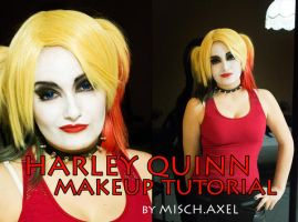 Harley Quinn - Arkham Knight makeup tutorial by MischievousBoyAilime