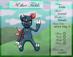 PKMNation Ref - AEther Fields - Edda the Sneasel by VampirateMace