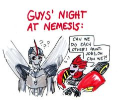Guys' night at Nemesis by SnappySnape