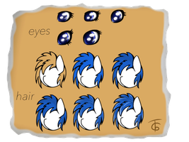 Hair tutorial and eye reference by GromekTwist