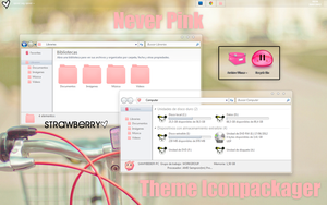 Never pink theme iconpackager. by TutosStrawberryJB