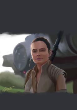 Rey Speed Painting by Garrenh