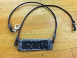 License Plate Fan Necklace by crystaldolphin42