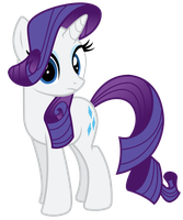 Rarity Looking At Us or You by TomFraggle