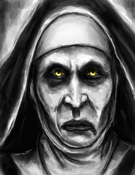 Nun Stream Drawing by thewebsurfer97