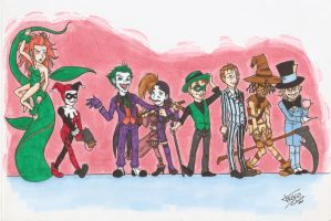 Gotham City Villains Color by Traco