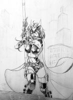 Huntress after Jim Lee by wayner8088