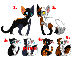 Cat adoptables by blitzwing-fan