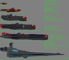 Ashlain warships by GratefulReflex