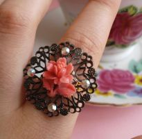 Rose Sparkle Ring by FatallyFeminine
