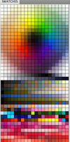 My messy Colour Palette lol - Color Swatch for PS by Lilaccu