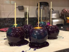 Blue candy apples by LadyQueenBee