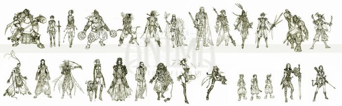 Anima: sketch compilation 1 by Wen-M