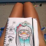 Doodling at the beach by loveandasandwich
