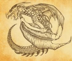 Dragon in a circle by prashy