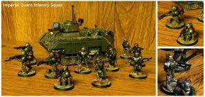 Imperial Guard Infantry Squad by Koshindou