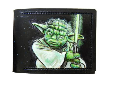 Yoda, leather wallet by Bubblypies