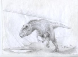 Just young Tarbosaurus and sand.. by CretaceousForest