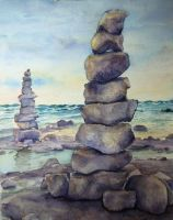 Cana Island Rocks by Aurinona