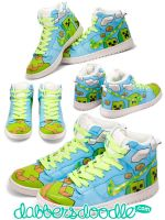 Minecraft Creeper Sneakers by DablurArt