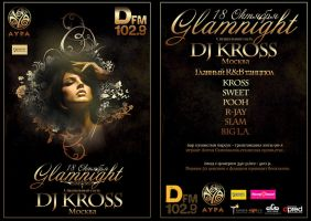 Glamnight Party Flyer by DPRED