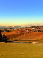 Picturesque panorama of countryside life by patrickjobst