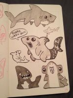 Shark week doodles by tea-tiger