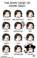 the many faces of frank iero. by ryuuenx