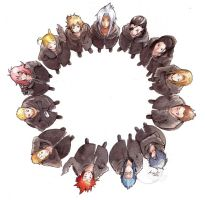 Commission - Organization XIII circle by eikomakimachi