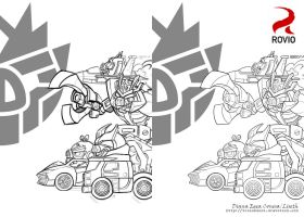 Angry birds Transformers Decepticons by Liseth