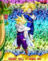 DBCU Trunks SSJ2 and Gohan SSJ by cdzdbzGOKU