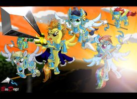 Commission: Wonderbolts - Into the Night by BroDogz