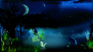 night forest wallpaper by janosch500