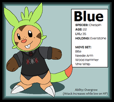 Chespin Blue Ref by Miiroku