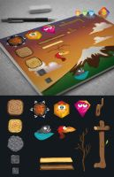 Game Characters and Props Creation Set by LuisFaus